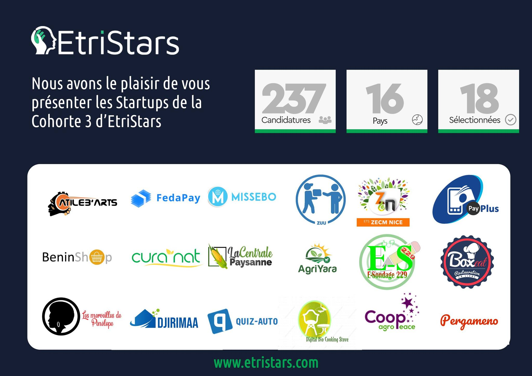 Postuler maintenant à EtriStars